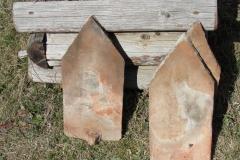 A tornyon talált régi cserepek